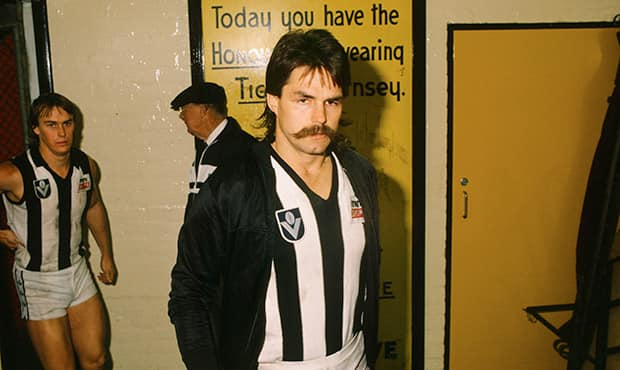 David Cloke arrived at Collingwood in 1983 after leaving Richmond. Picture: AFL Media