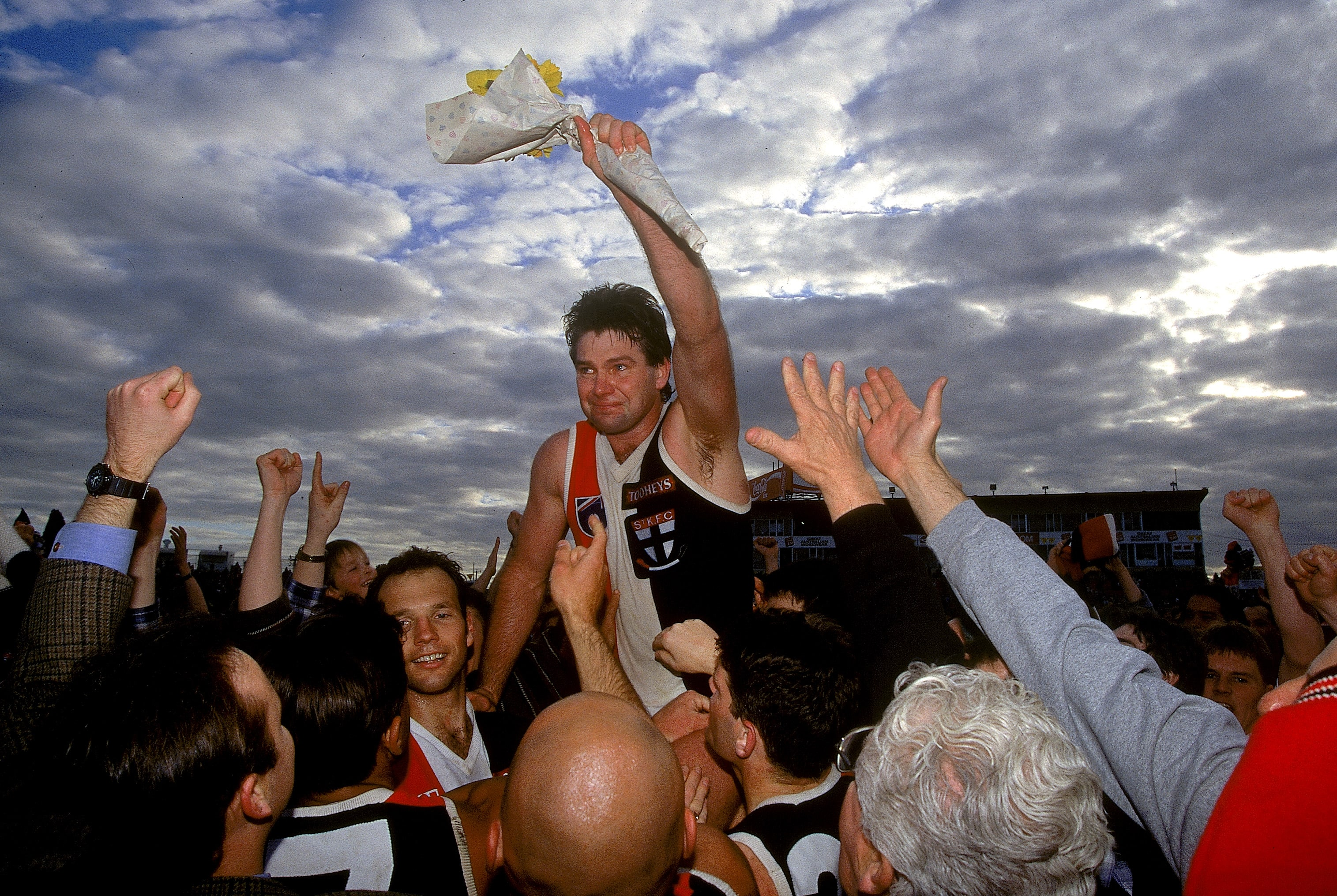 Danny Frawley played 240 games for St Kilda, including 177 as captain - AFL,Tag-AFL HQ