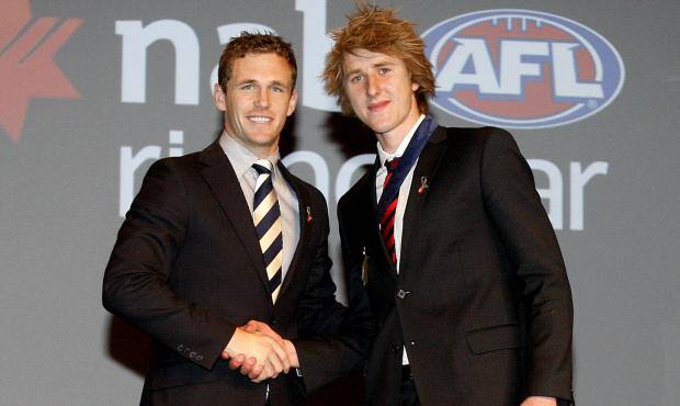 Joel Selwood with Dyson Heppell at the 2011 NAB AFL Rising Star ceremony - ${keywords}