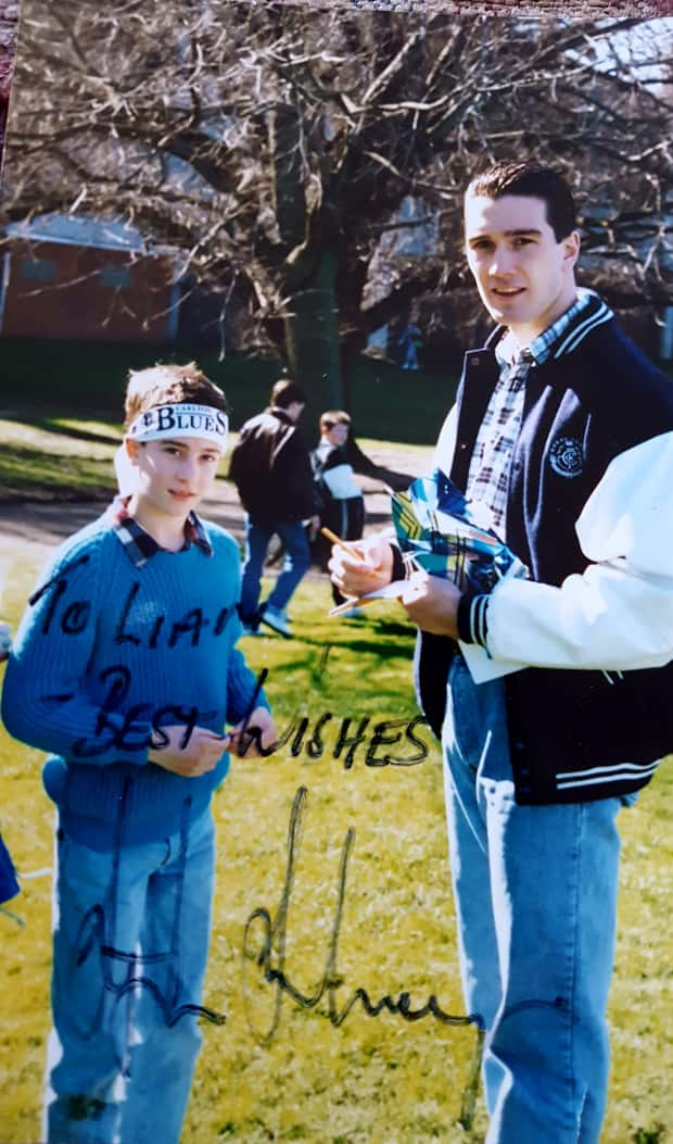 Liam O'Shannessy with Stephen Silvagni Image