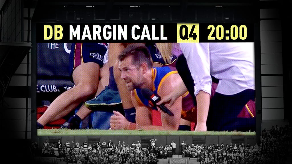 Luke Hodge gives an in-game interview to Channel Seven during the Lions' loss to the Pies - AFL,Tag-Opinion,Brisbane Lions,Luke Hodge,Collingwood Magpies,Nathan Buckley,St Kilda Saints,Melbourne Demons,North Melbourne Kangaroos,Carlton Blues,Brendon Bolton