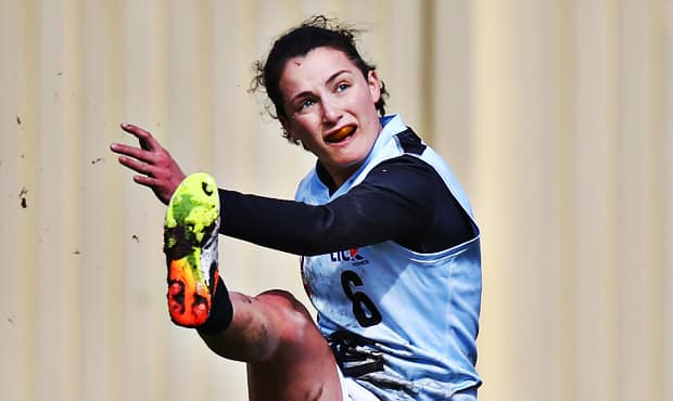 AFLW-listed player Gab Pound will look to continue her impressive form in the Blues' season-ending VFLW clash. (Photo: AFL Media) - Carlton,Carlton Blues,VFL,Essendon,Essendon Bombers