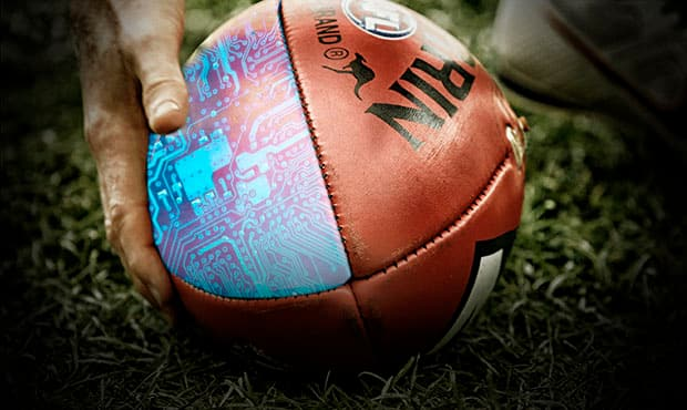 Research into how a computer chip affects a football has been completed. Picture: Digitally altered