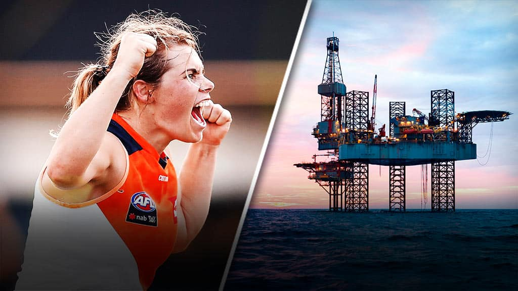 How do you train while working on an oil rig?