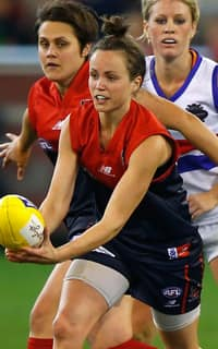 Daisy Pearce was best afield in the historic Women's Round game between the Demons and the Bulldogs