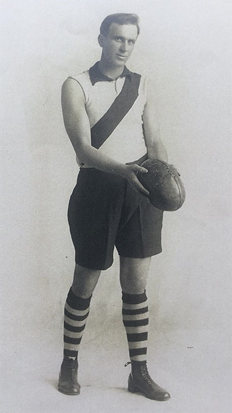 Arthur Hando pictured in his South Melbourne guernsey - AFL