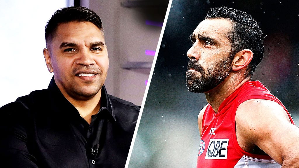 If the Adam Goodes saga happened now, it would be handled differently, says 'Colour of Your Jumper' co-host Andrew Krakouer (left) - AFL,Featured,Adam Goodes,Indigenous,Tag-Opinion