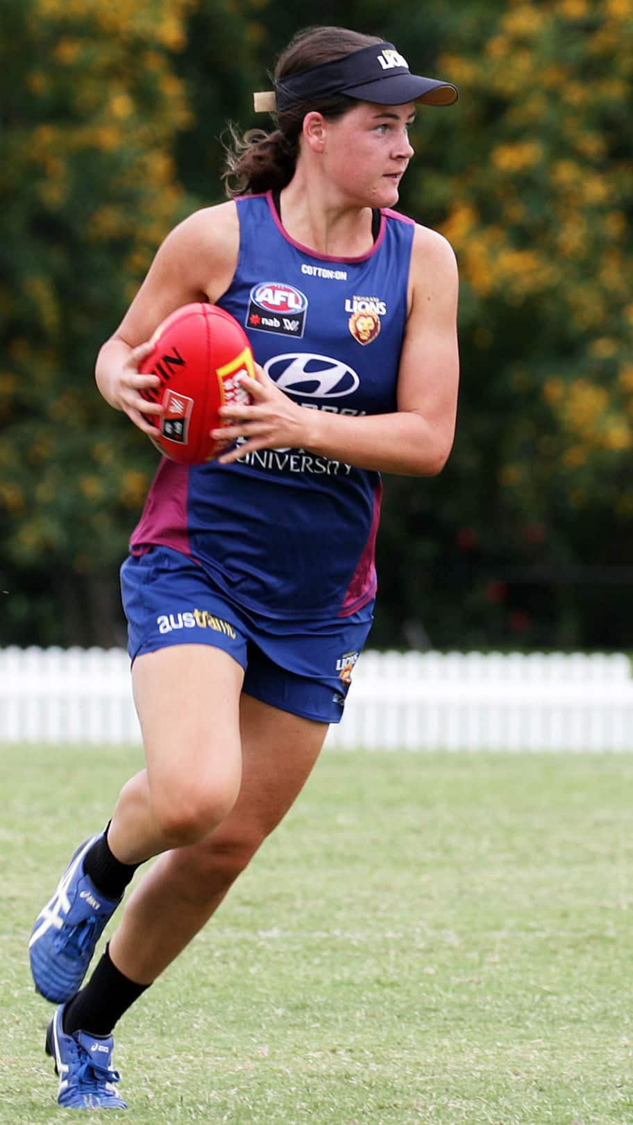 Sophie Conway in action at Lions training. Picture: David Layden - AFLW Draft,AFL