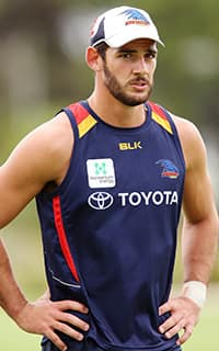 Taylor Walker hits the training track soon after being named Adelaide's new skipper. (Picture: Getty Images) - ${keywords}