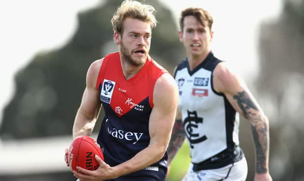 Jack Watts in action for the Casey Demons during their win over the Northern Blues - AFL,Jack Watts,Around the State Leagues
