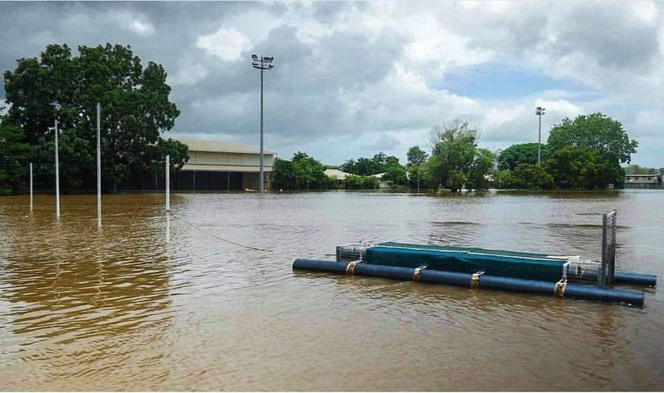 The crocodile net at Daly River Football Club. Picture: AFL NT - AFL