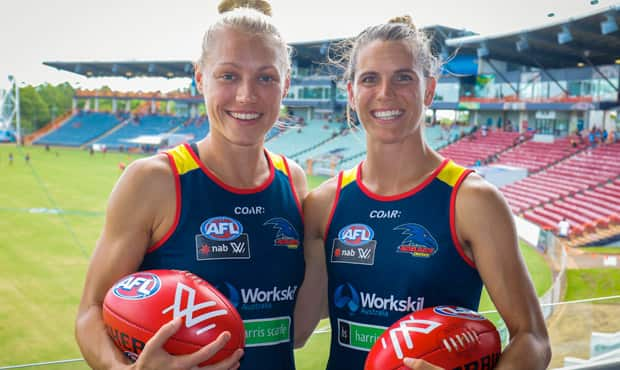 Erin Phillips and Chelsea Randall will share the captaincy of the Crows' AFLW team. Picture: AFC.com.au - ${keywords}