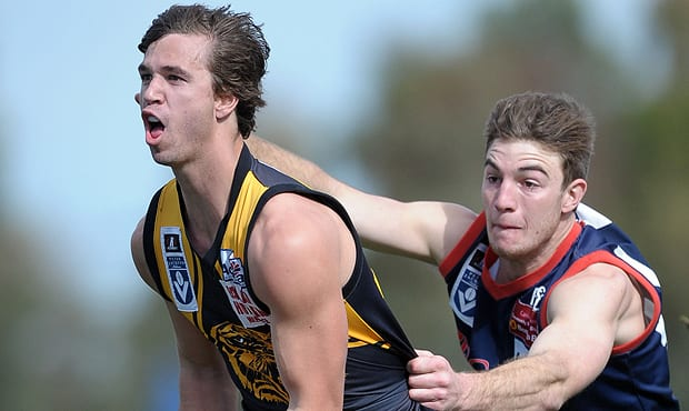 Defender Ayden Kennedy in action for VFL team Werribee.