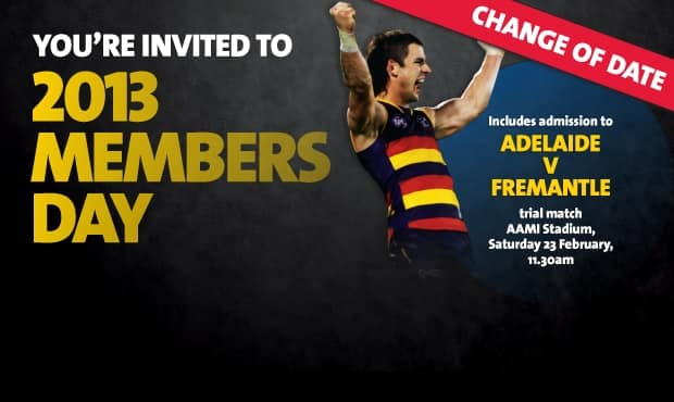 The Club's 2013 Members Day will now be held on Saturday, February 23