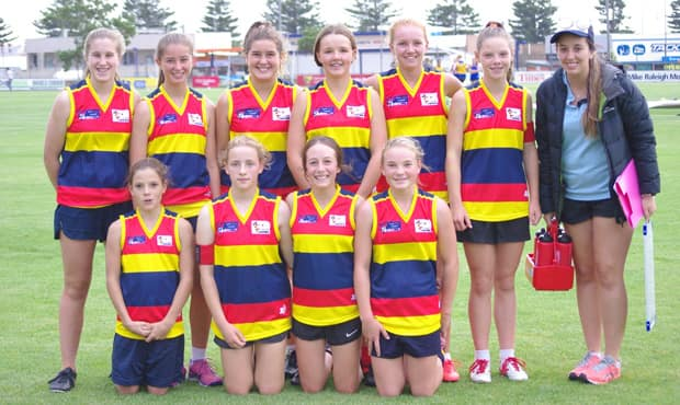 The Under 15 CT Crows team at their first game.