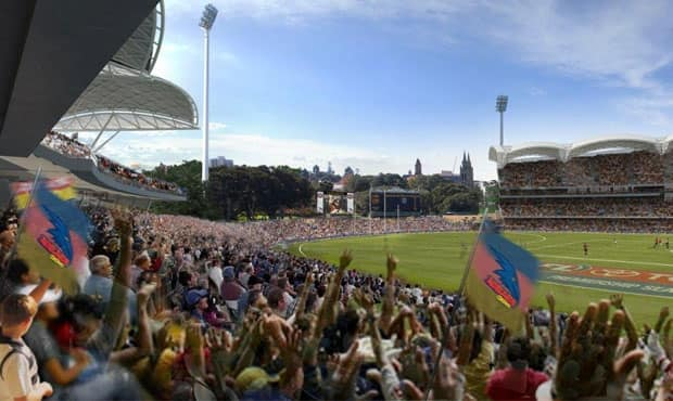 The transition to Adelaide Oval is underway
