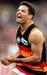 Troy Bond celebrates his fourth goal in the 1997 Grand Final