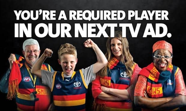 We need you for our new TV ad