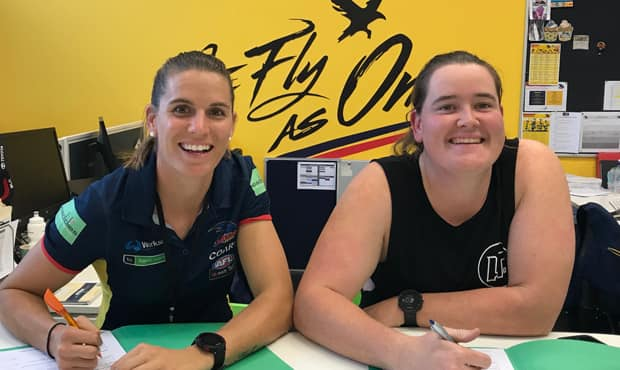 Chelsea Randall and Sarah Perkins have re-committed to the Club