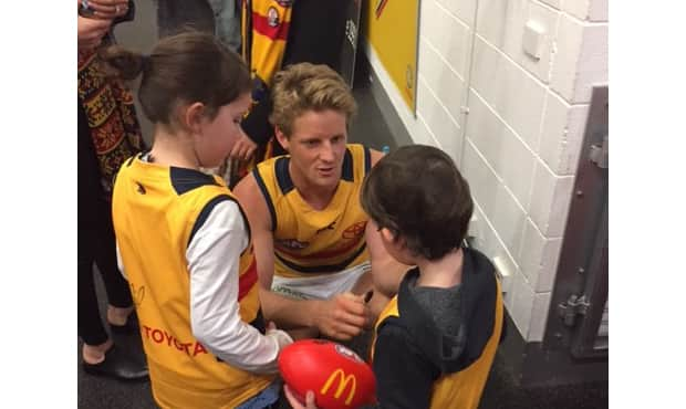 Crows Mascots with Sloane INSTORY.jpg