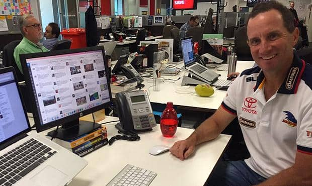 Don Pyke at AFL Media HQ in Melbourne