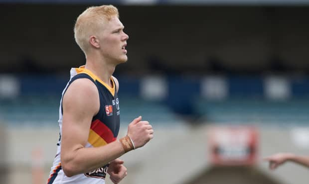 Elliott Himmelberg booted two goals against Port Adelaide in Saturday's SANFL Showdown