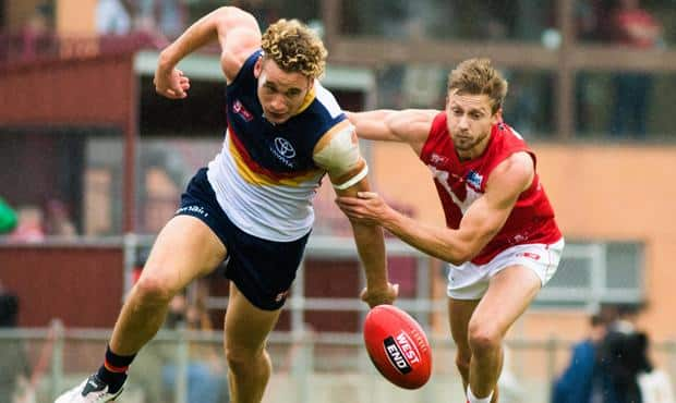 Harry Dear kicked two goals in Adelaide's four-point SANFL win over North Adelaide