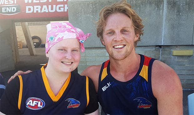 Jess Brown with Rory Sloane
