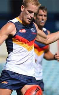 Sam Kerridge in action in Adelaide's trial game against Sturt earlier this month