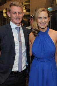 David and Sarah Mackay at the 2015 Crows Club Champion presentation