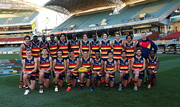 The 2017 Next Generation Academy Emerging Talent Squad played in a curtain raiser at Adelaide Oval