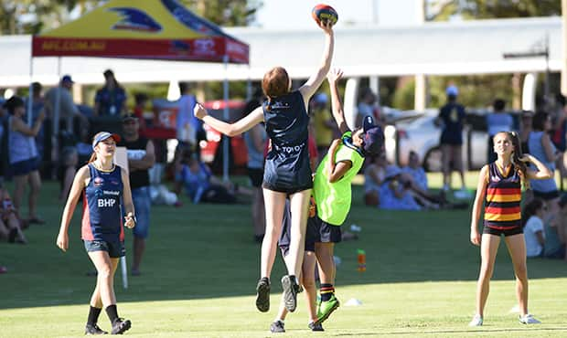 Fans enjoyed a variety of activities guided by AFLW players