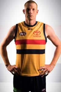 Sam Jacobs in the new gold guernsey