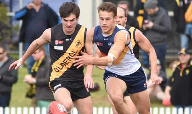 Young defender Tom Doedee has been in strong form for the SANFL Crows