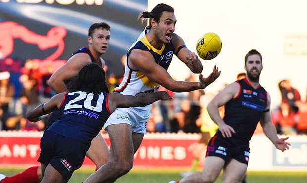 Troy Menzel booted four goals against the Redlegs on Saturday night
