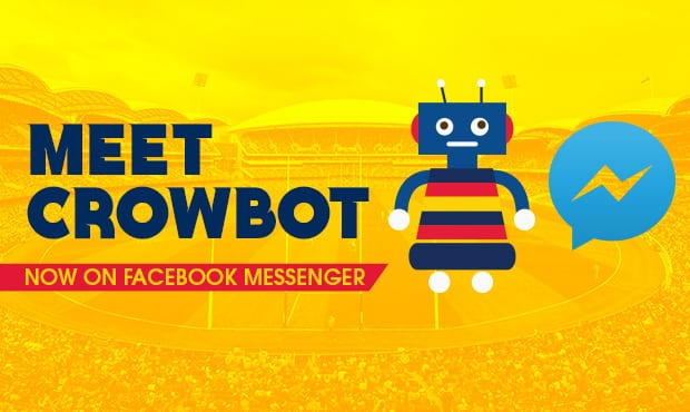 Visit https://m.me/adelaidecrows to connect with CrowBot