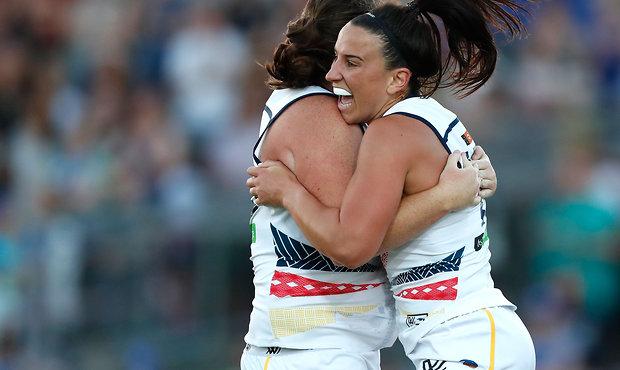 AFLW 2017 Rd 02 - Western Bulldogs v Adelaide