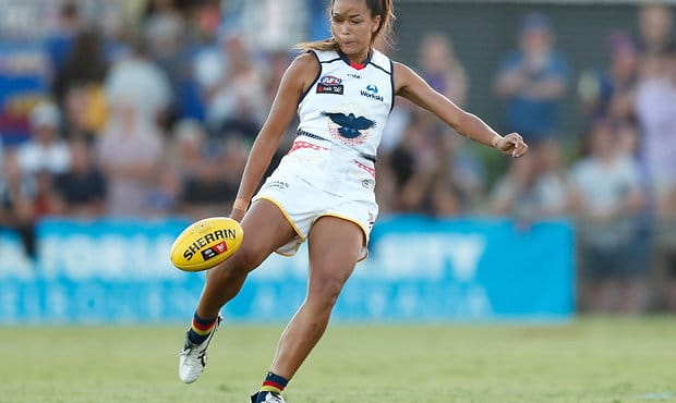 Tayla Thorn is one of nine NT-based players in the Crows' AFLW squad