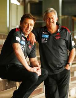 Mark Thompson and Neil Craig at Windy Hill on Thursday