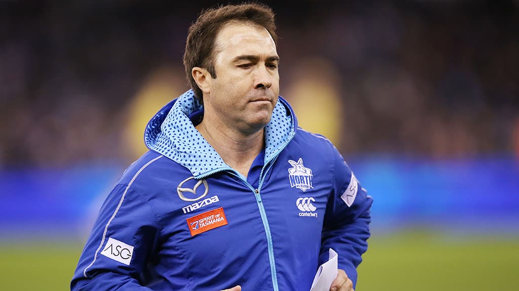 Brad Scott will likely finish up as Roos coach after Saturday's match against the Bulldogs - AFL,North Melbourne Kangaroos,Brad Scott