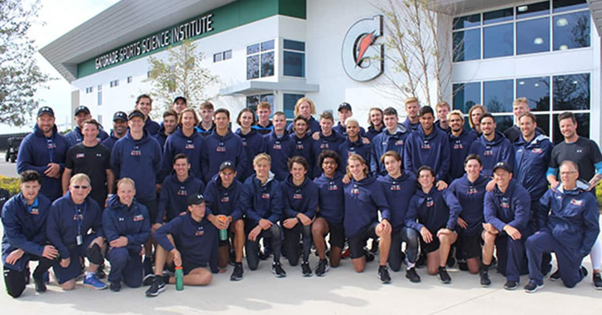 The NAB AFL Academy group outside the Gatorade Sports Science Institute. (Picture: AFL.com.au) - Brisbane Lions