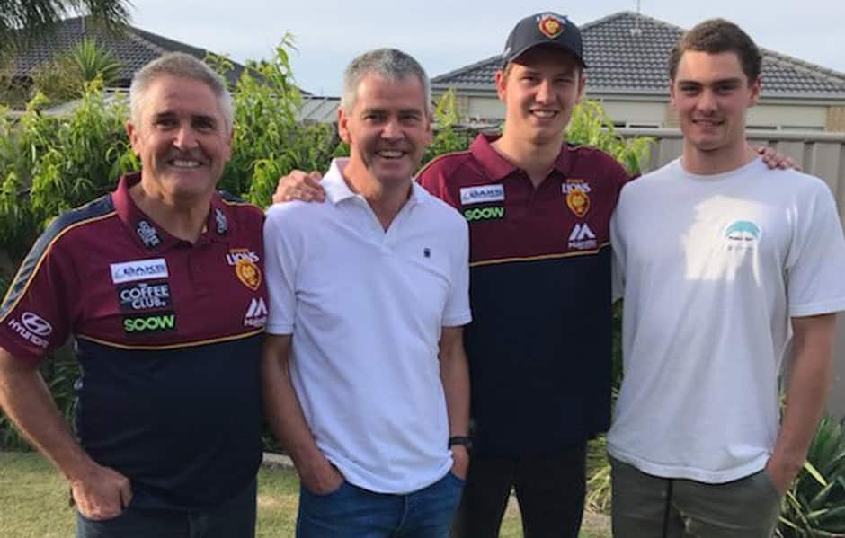 Chris Fagan visited the Berry family in Horsham over the weekend. - Brisbane Lions