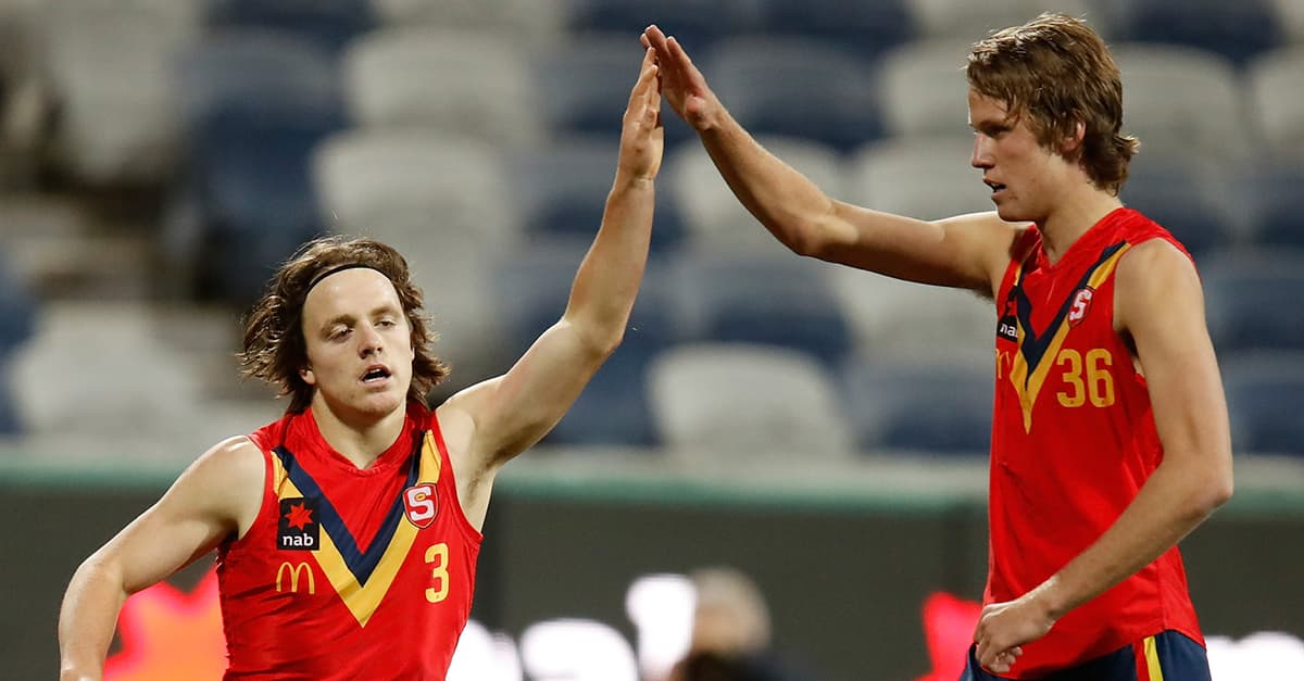 Jack Lukosius (right) is amongst the top contenders for the 2018 Draft.  - Brisbane Lions