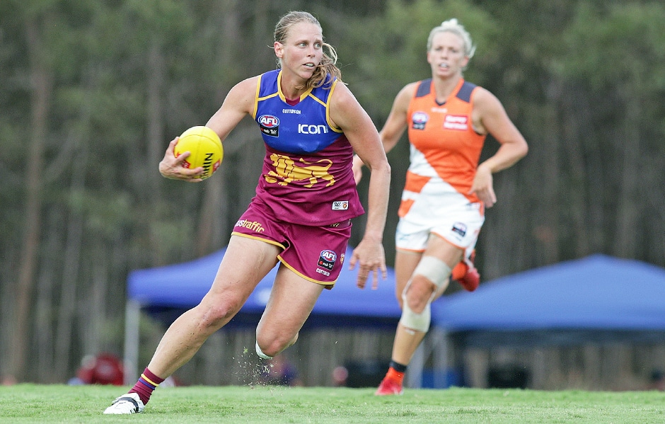 Kate Lutkins during Round 1 (Picture: David Layden) - Brisbane Lions