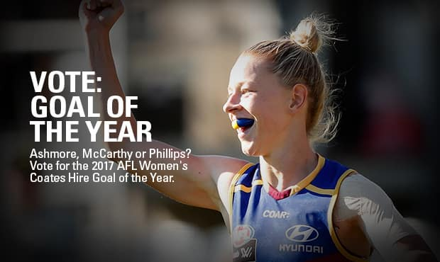 Vote for the AFL Women's 2017 Goal of the year.