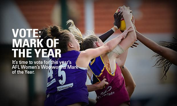 Brisbane Lions, vote for the AFL Women's 2017 Mark of the Year.
