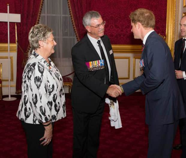 Former Blue Honors Son's Memory At Buckingham Palace