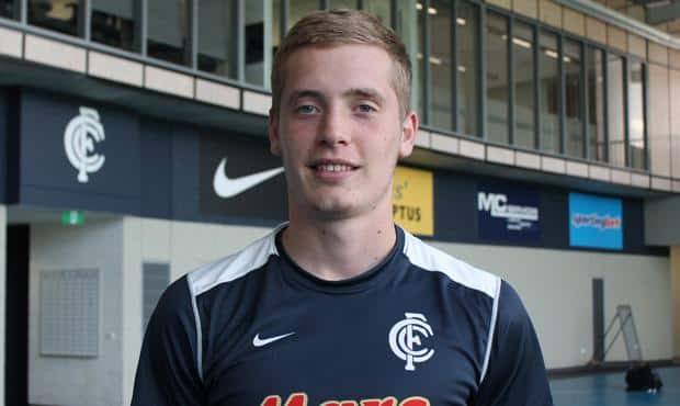 18-year-old Ciaran Byrne hails from Dundalk in County Louth, Ireland. (Photo: Carlton Football Club)