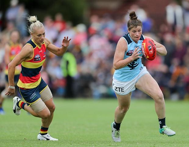 AFLW 2017 Rd 03 - Adelaide v Carlton