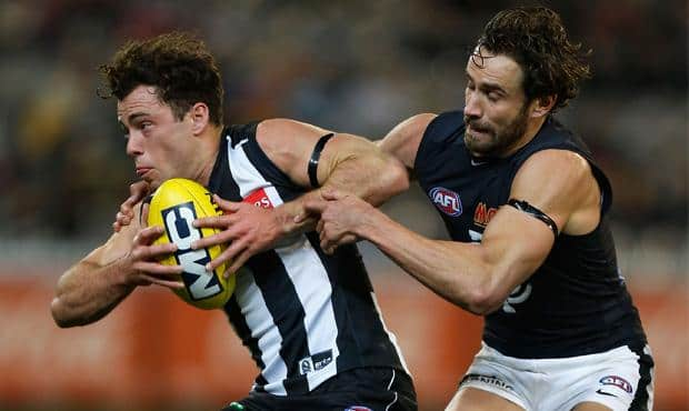 The Blues will face the Magpies in Bendigo on March 15, 2015. (Photo: AFL Photos)